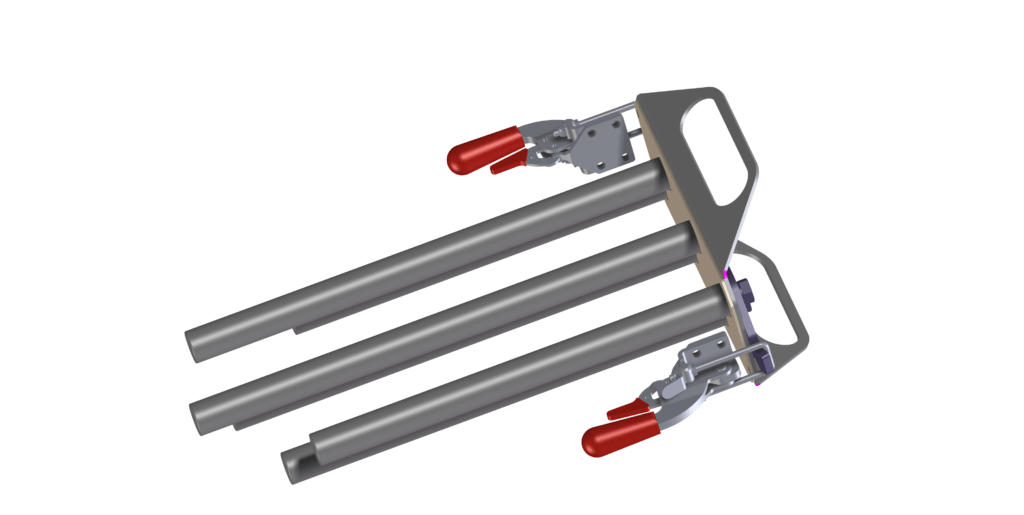 Metaaldetectie, demontabele staafmagneten in de uitloop voor het afvangen van metaal-verontreinigingen