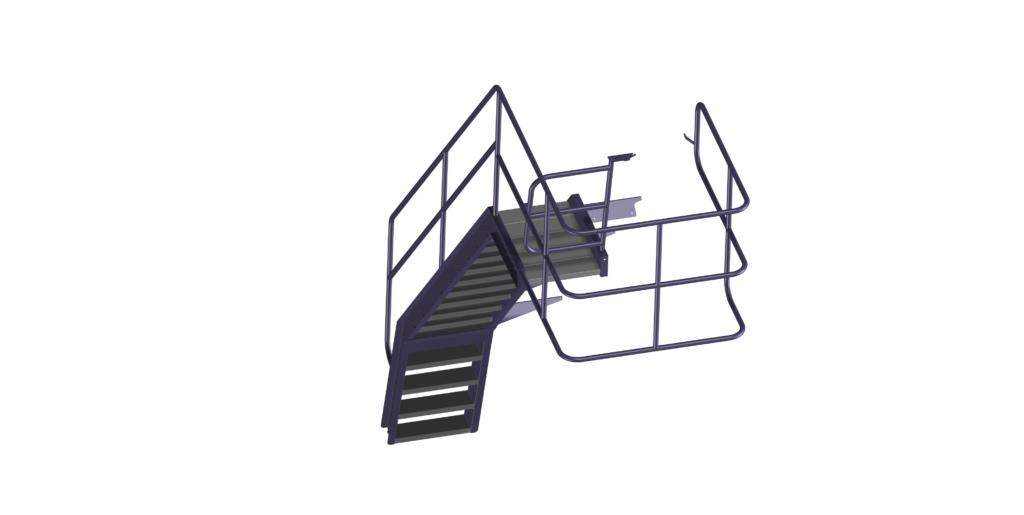 Kooiconstructie bovenaan de trap van Dino bulkwagenvuller