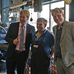 Mayor and aldermen visit Van Beek