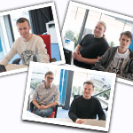 Five interns on three projects