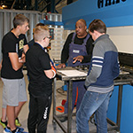 Van Beek gives preparatory secondary vocational education students (vmbo'ers) a peep into the future