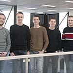 Vijftal afstudeerstagiairs aan de slag  met drie projecten bij Van Beek