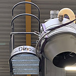 New step makes Dino mobile bulk truck loader  more ergonomic and safer