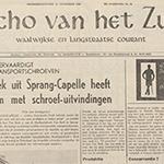 Echo van het Zuiden was full of praise for Van Beek in 1968